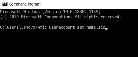 How to Find/Get SID of User in Windows Environment
