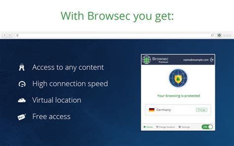 Browsec VPN - Free VPN for Firefox – Get this Extension