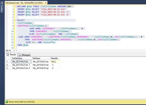 All about SQLServer: T-SQL - Example for SUBSTRING with