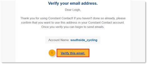 Verifying email for campaign - Constant Contact Community