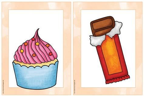 """Ideenreise: Flashcards/Wordcards """"snacks and sweets"""""""