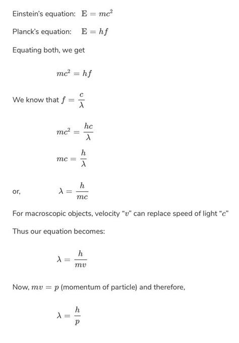 What is the significance of de Broglie's equation? - Quora