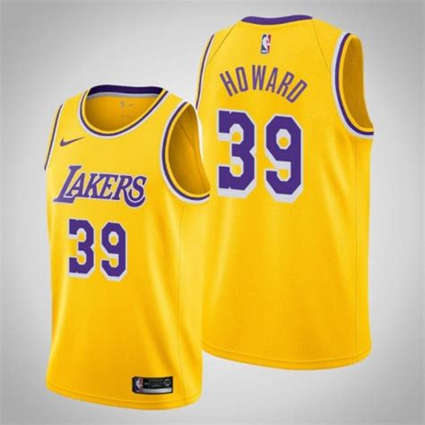 Men's Los Angeles Lakers #39 Dwight Howard Gold Icon