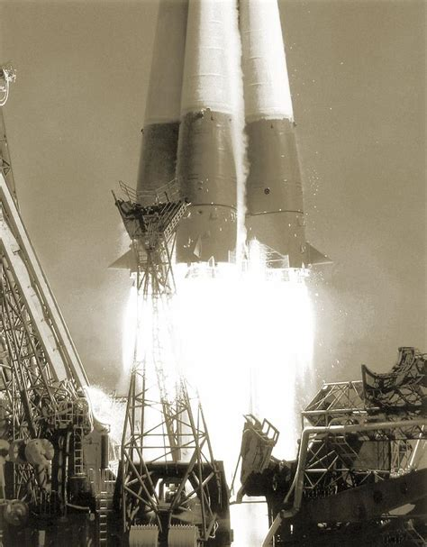 Launch Of Vostok 1 Spacecraft, 1961 Photograph by Detlev