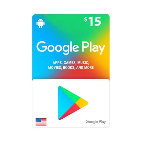 Google Play Card $15 - US - Email Delivery