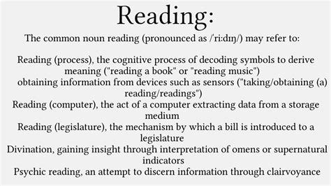 """""""Reading"""" - Wikipedia Word Definition - YouTube"""