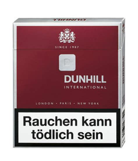 Dunhill International Red Zigaretten - Tabak and more