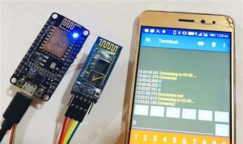 Bluetooth Module Interfacing with ESP8266: Controlling an LED